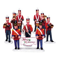 Christmas Parade Marching Band Set Of 8 Cod. 93766