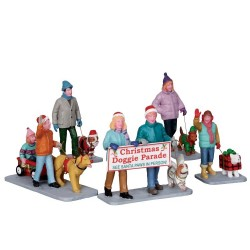 Christmas Doggie Parade Set Of 5 Cod. 23949