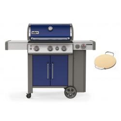 PROMO Barbecue Weber a Gas Genesis II EP-335 Deep Ocean Blue GBS Cod. 61086129 + Pietra per Pizza GBS cod.8836