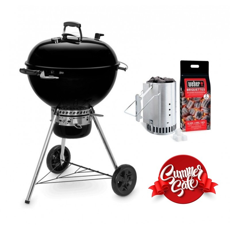 � 57 cm Barbecue a carbonella WEBER Master-Touch GBS E-5750 Acciaio cromato