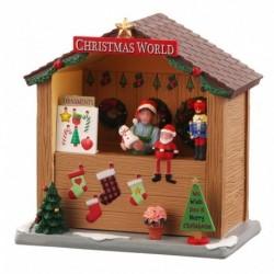 Christmas World Booth B/O (3V) Senza Scatola Cod. 04734