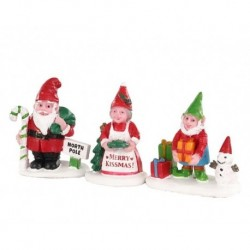 Christmas Garden Gnomes Set of 3 Cod. 04739
