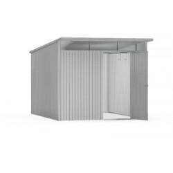 Casetta da Giardino in Metallo AVANTGARDE XL con Porta a Due Battenti Biohort