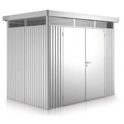 Casetta da Giardino in Metallo HIGHLINE 2 con Porta a Due Battenti Biohort