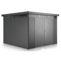 Casetta da Giardino in Metallo HIGHLINE 5 con Porta a Due Battenti Biohort