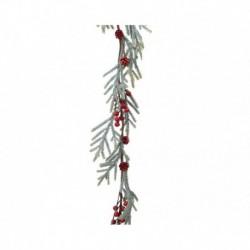 Ghirlanda con Bacche Rosse e Pino 100 cm