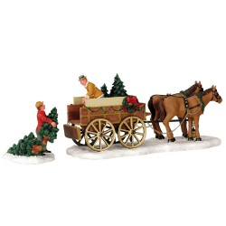 Christmas Tree Wagon Set of 2 Cod. 43451