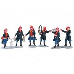 Fireman Set of 6 Cod. 02446 PRODOTTO CON DIFETTI