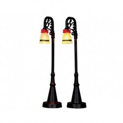 Bell Ornament Lamp Post Set of 2 B/O 4.5V Cod. 54932 PRODOTTO CON DIFETTI