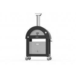 AlfaForni Forno per Pizza BRIO HYBRID colore Silver Black a Gas GPL con Base