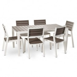 Keter Tavolo Hamony con 6 sedie Grafite/Bianco