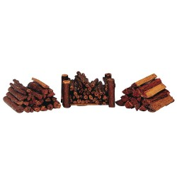 Stacked Firewood Set of 3 Cod. 34955