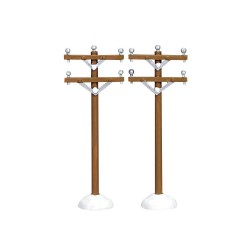 Telephone Poles Set of 2 Cod. 64461