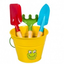 Stocker Set attrezzi e secchiello giallo KIDS GARDEN