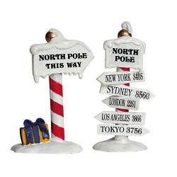 North Pole Signs Set of 2 Cod. 64455