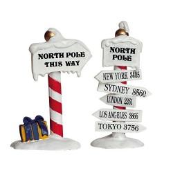 North Pole Signs Set Of 2 Cod. 64455