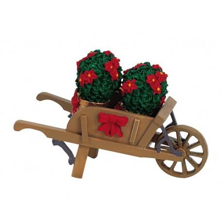 Wheelbarrow With Poinsettias Cod. 64479