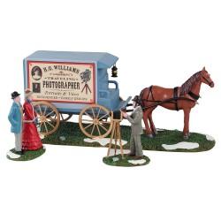 Traveling Photographer Wagon Set Of 3 Cod. 13561