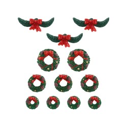 Garland And Wreaths Set Of 12 Cod. 04802