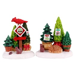 Tree Farm Display Set Of 2 Cod. 14844