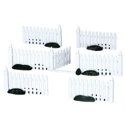 Plastic Picket Fence Set of 7 Cod. 14388