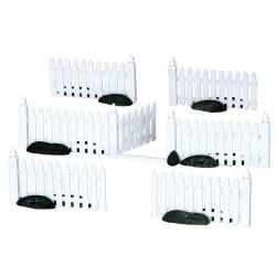 Plastic Picket Fence Set of 7 Cod. 14388