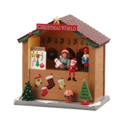 Christmas World Booth B/O (3V) con Scatola Cod. 04734