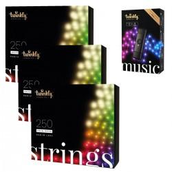 Twinkly STRINGS Luci di Natale Smart 750 Led RGBW II Generazione + Music Dongle Omaggio