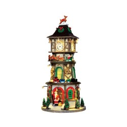 Christmas Clock Tower With 4.5V Adaptor Cod. 45735
