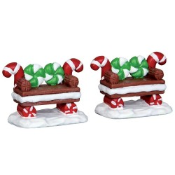 Peppermint Cookie Bench Set of 2 Cod. 44812