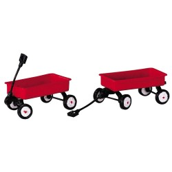 Red Wagons Set of 2 Cod. 44175