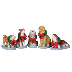 Christmas Pooch Set Of 5 Cod. 32138