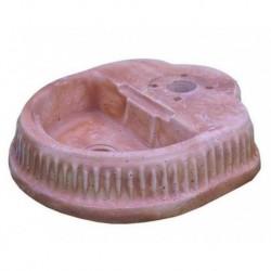Base Fontanella Serie Alternativa Tonda Pietra Ricostruita Tabacco