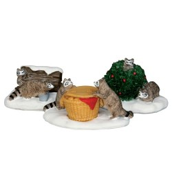 Rascal Raccoons Set Of 3 Cod. 52357