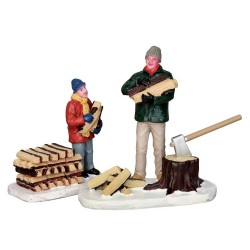 Stacking Firewood Set of 2 Cod. 52323