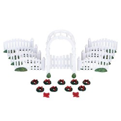 Plastic Arbor & Picket Fences With Decorations Set of 20 Cod. 4233
