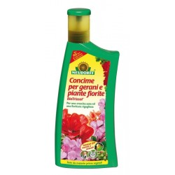 Biotrissol Concime liquido per gerani e piante fiorite 1 lt. Neudorff