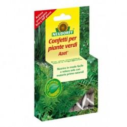 Concime granulare Azet in confetti per piante verdi (40 confetti) Neudorff