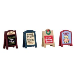 Village Signs Set of 4 Cod. 64071