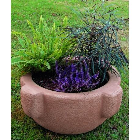 Vaso in pietra ricostruita arizona tabacco for Vasi in cotto toscano
