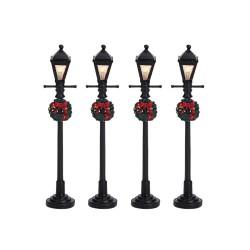 Gas Lantern Street Lamp Set of 4 B/O 4.5V Cod. 64498