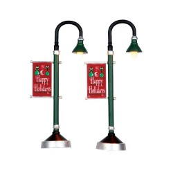 Municipal Street Lamp Set Of 2 B/O (4.5V) Cod. 64065
