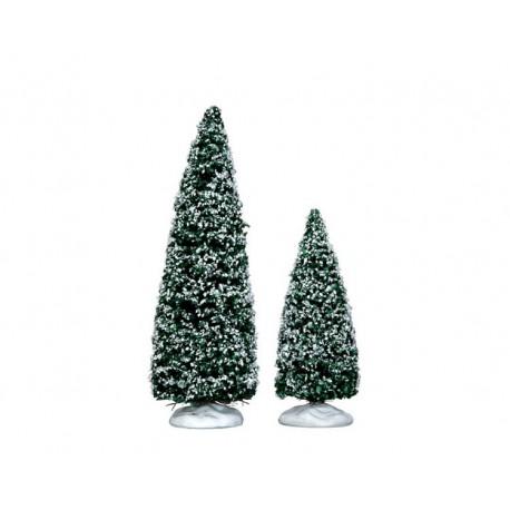 Snowy Juniper Tree Medium & Small Set Of 2 Cod. 34665