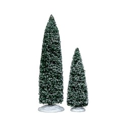 Snowy Juniper Tree Large & Medium Set Of 2 Cod. 34664
