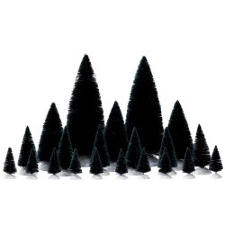 Assorted Fir Trees Set of 21 Cod. 74691