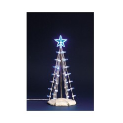 Lighted Silhouette Tree (Blue) M B/O (4.5V) Cod. 74658