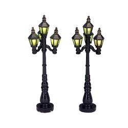 Old English Street Lamp Set of 2 B/O 4.5V Cod. 34902