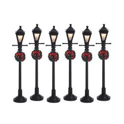 Gas Lantern Street Lamp Set Of 6 B/O (4.5V) Cod. 64499