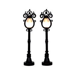 Parisian Street Lamp S/2 B/O 4.5V Cod. 44757