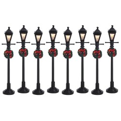 Gas Lantern Street Lamp Set Of 8 B/O (4.5V) Cod. 64500